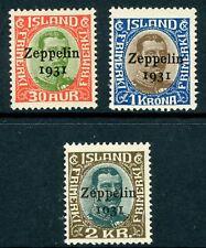 Iceland 1931 Zeppelin Airmail Set MNH K213