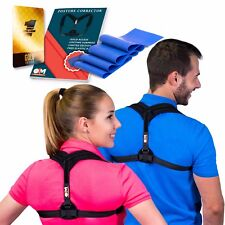 Posture Corrector for Women & Men + Resistance Band for Upper Back Pain