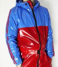 Glanznylon PVC shiny Overall Suit Regenoverall 5 Farben XS-5XL OHNE FUTTER