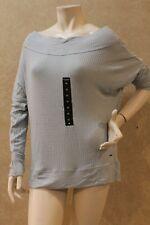 Lucky BRAND Womens Blue Waffle Convertible Pullover Top Shirt XL BHFO 1438