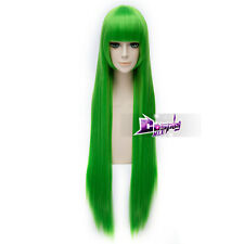 40'' Code Geass C.C. Grass Green Long Straight Anime Cosplay Wig Heat Resistant