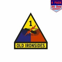 Us Army 1St Armored Division Old Ironsides 4 pack 4x4 Inch Sticker Decal