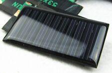 Polycrystalline Solar Panel Cell 5v 30mA 0.15w 53mm x 30mm DIY LED Garden Light