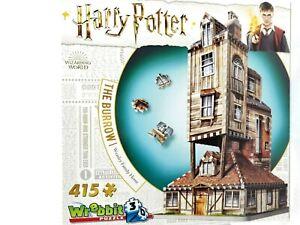 Wrebbit 3D Puzzle 415 Piece Tile Jigsaw Puzzle Harry Potter The Burrow Weasley