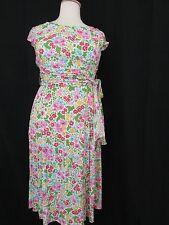NWT!! COLDWATER CREEK Print English Garden  Short Sleeve A-Line Dress-Size 16