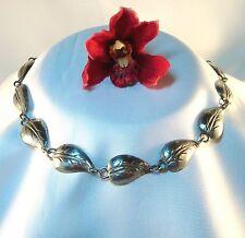 Zeitlos schöne Blätter Collierkette 835 Silber Halskette Collier Kette / bi 251