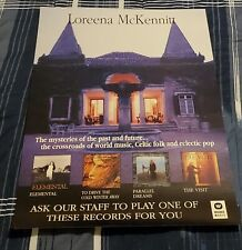 LOREENA MCKENNITT-THE MYSTERIES OF THE PAST AND FUTURE-WARNER CANADA POSTER