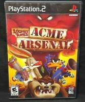 Looney Tunes ACME Arsenal -  PS2 Playstation 2 Game Tested Working Complete