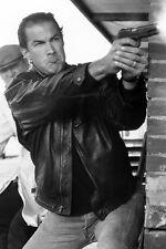 Steven Seagal 11x17 Mini Poster firing gun in leather jacket