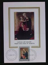 VATICAN MK 1971 MADONNA & JESUS CHRISTUS MAXIMUMKARTE MAXIMUM CARD MC CM c6304