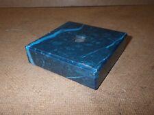 Blue Marble Trophy Base : Bevelled Edges 7.5 x 7.5 x 2cm : Drilled