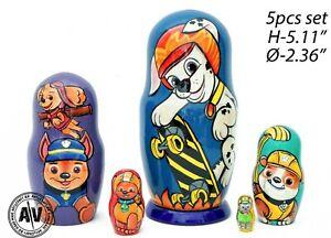 Paw Patrol nesting dolls, Disney stacking dolls, Paw Patrol matryoshka, baby toy