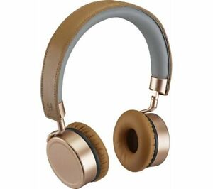 GOJI GTCONRG18 ON-EAR WIRELESS BLUETOOTH 4.0 HEADPHONES RECHARGEABLE ROSE GOLD *