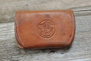 Smith & Wesson S&W Ammo Cartridge Pouch Leather 38spl