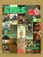 Vtg Dec 1990 Cycle World Motorcycle Magazine Bimota Tesi Zephyr Japanese Japan