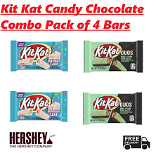 4 Kit Kat Candy Bars Combo - 2 Kit Kat Duos Mint & 2 Kit Kat Birthday Cake