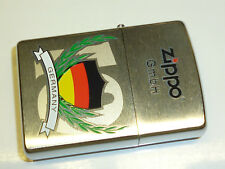 ZIPPO LIGHTER WITH GERMANY FLAG MOTIVE- LIMITED EDITION - NEVER STRUCK - 2003
