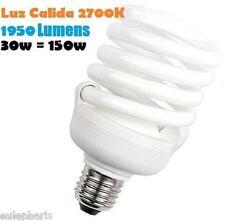 BOMBILLA Bajo Consumo CFL 30W E27 Luz Calida 2700K Floracion - 1950 Lumens 230v