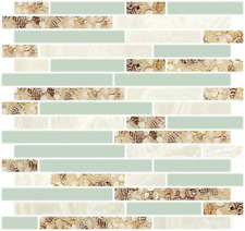 """Self Adhesive 3D Wall Tile Peel and Stick Backsplash for Kitchen 10.5x10"""" 4Pc"""