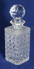 Beautiful Vintage Cut Glass Square Decanter
