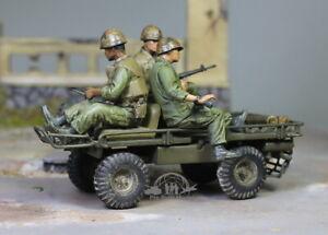 (Pre-Order) USMC M274 Truck Mechanical Mule w/ 03 Marines 1:35 Pro Built Model