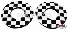 ProBMX Old School Style BMX Grip Donuts - Pairs - Black & White