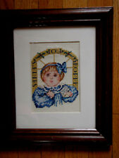 Special Sale/ Completed/ Cross Stitched/ Santa's/ Toy Shoppe/