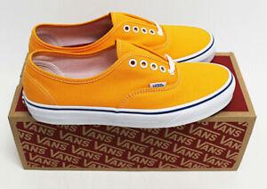 NIB VANS Men's Authentic Zinnia Orange Canvas Sz 9 Low Top Sneakers Shoes skate