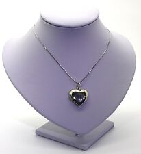 Solid 925 Sterling Silver Necklace & polished tree Of Life Heart Shaped Locket