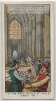 The Nave Of Old St. Paul's Church 1570 London England 80+ Y/O Ad Trade Card