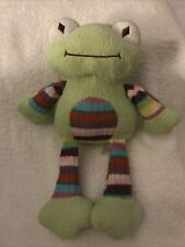 "Animal Adventure Green Frog Plush Striped Knit Sweater 13"" Stuffed"