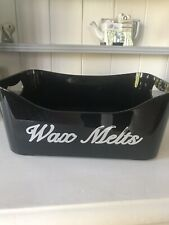 Wax Melts Storage Box Black With Silver Writing