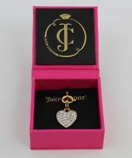Juicy Couture Yellow Pave Heart & Bow Charm with Box - Lobster Claw Closure