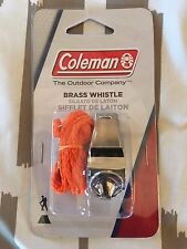 Whistle, Brass, Warning Signal, Lanyard Included, Coleman, The Outdoor Company
