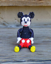 Zuni-Beaded Sitting Mickey Mouse by Hollie Booqua - Native American Beadwork
