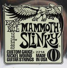 Ernie Ball Mammoth Slinky 12-62 2214 Electric Guitar Strings