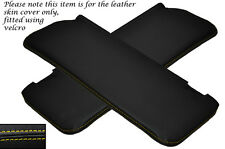 YELLOW STITCH 2X SUN VISORS LEATHER COVERS FITS MERCEDES W108 STACKLIGHT 65-72