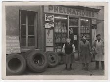 PHOTO Auto Automobile Voiture Garage 1950 Pneu Pneumatique Castrol Devanture