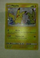 1x Pokemon TCG Pikachu SM162 Black Star Holo Promo