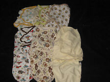 Boys Knit  Swaddlers Baby Blankets Lot 7-14 lbs  1 Bigger