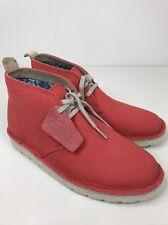 BNWOB Damas Clarks Originals Desierto Bota Para Mujeres Lona Coral aérea Zapato UK 3.5