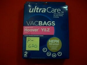 BRAND NEW ULTRA CARE VACBAGS HEPA FILTRATION CAPTURES 99.97% 2 .3 MICRONS 2 BAGS