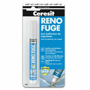 Ceresit Reno Fuge Stift Fugenfarbe zum Auffrischen Fugenstift 7 ml - weiss
