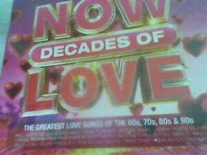 NOW Decades Of Love [4CD] new sealed free post