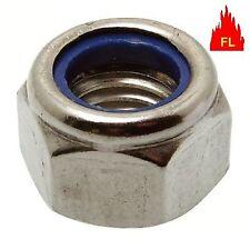 ECROU FREIN NYLSTOP INDESSERABLE INOX A4  316 L qualité  marine  TOUT DIAMETRE