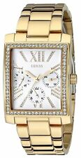 Guess Women's Gold-Tone w/ Dazzling Crystal Sparkle Watch - U0446L2