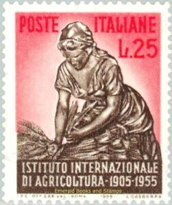 EBS Italy 1955 - International Institute of Agriculture - Unificato 786 MNH**