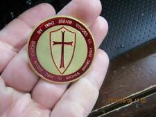 Awesome Masonic Knights Templar Medal Fraternal Mason (20H1)