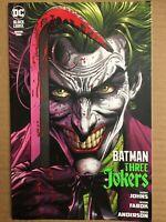 BATMAN THREE JOKERS #1 (OF 3) Raw 9.8 JASON FABOK JOKER HOOK COVER w CARD