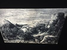 """Rodolphe Bresdin """"Bathers In A Mountain """" French Art 35mm Slide"""